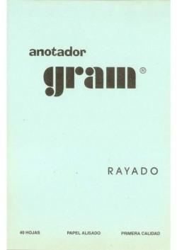 ANOTADOR RAYADO COMUN