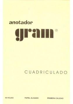 ANOTADOR RAYADO CUADRICULADO