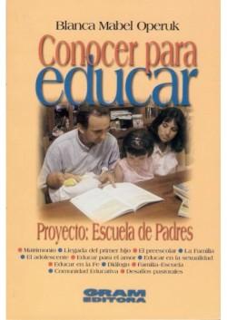 CONOCER PARA EDUCAR - ESCUELA DE PADRES