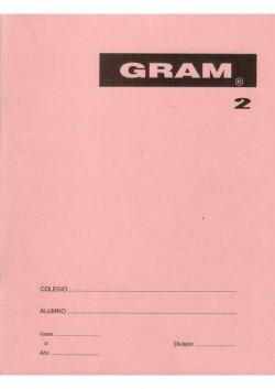 CUADERNO RAYADO ESPECIAL GRAM 2